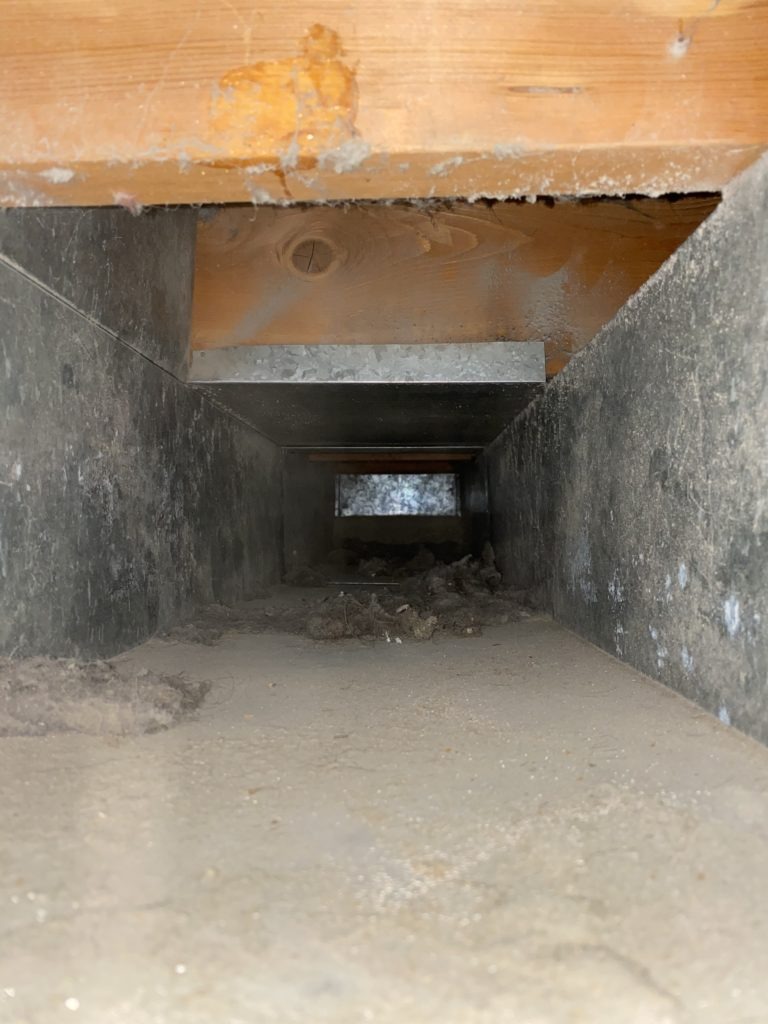 Before Dirty air duct