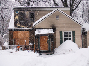 Burned House in need of fire restoration